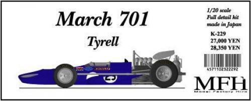 MFH modellllerlerl Factory Hiro 1  20 March701 Tyrell Fullständig detaljutrustning