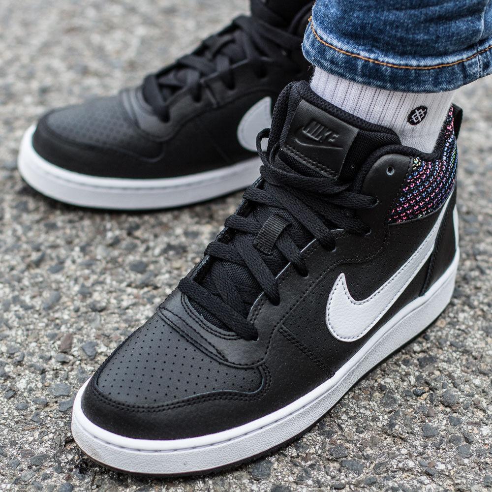 NIKE COURT BgoldUGH MID SE (GS) shoes women garçons sport black 918340-005