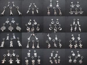 NEW-5PCS-Tibetan-Silver-Charms-Dangle-Beads-Pendant-For-Bracelet-Jewelry-Making
