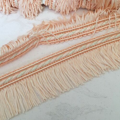 2m x 40mm Peach Fringing #1130