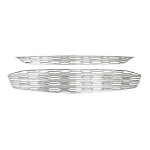 Chrome-Grille-Overlay-Top-Bottom-FITS-2016-2017-2018-Chevrolet-Chevy-Malibu