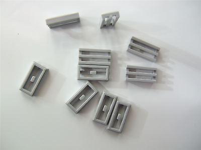 Twenty 1x2 Stud Thin Radiator Grille ID 2412 Lego Medium Stone Grey NEW
