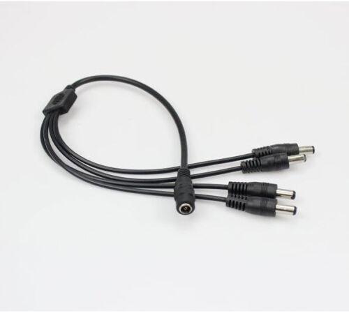 DC 4 way Power Splitter Cable 1 to 4 splitter for CCTV Camera LED lights 5.5.1mm