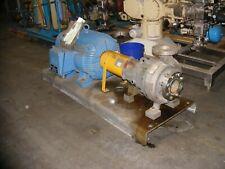 Flowserve Durco Mark Iii Size 2k4x3 10rv10 Centrifugal Pump W 100hp Motor