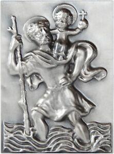 Saint Saint St-Christophe 3d relief Bouclier badge emblème 65 x 48 mm  </span>