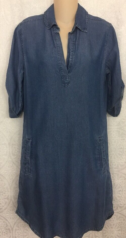 Splendid Shirt Dress bluee Lycell  NWT  Xs