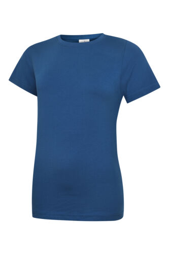 Uneek UC318 Ladies Classic Crew Neck T Shirt 100/% Cotton Womans Casual Tee Top