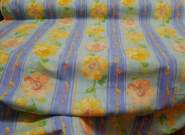 Vintage yellow  Floral Cotton Made In England, 54