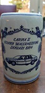 Vtg-Delft-Blue-White-Carina-Mug-Tankard-Stein-Toyota-Dealer-meeting-January-1984