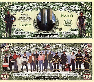 World Trade Center - 10th Anniversary 9-11 Heroes Novelty Money