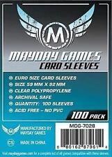100 Card Sleeves Mayday EURO 59x92 Bustine Protettive Giochi da Tavolo Buste