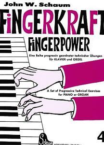 Klavier-Noten-SCHAUM-Fingerkraft-Fingerpower-4-leichte-Mittelstufe-BOE-3573