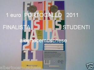 1 Euro 2011 Portogallo Portugal Studenti Coin Card Blister Finalista 葡萄牙 ポルトガル