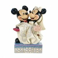 Jim Shore For Enesco Disney Traditions Mickey And Minnie Wedding Figurine, 6.625 on sale