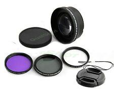 52mm Telephoto lens 2X + hood + UV, CPL filters +cap for Nikon D5000 D5100 D3100