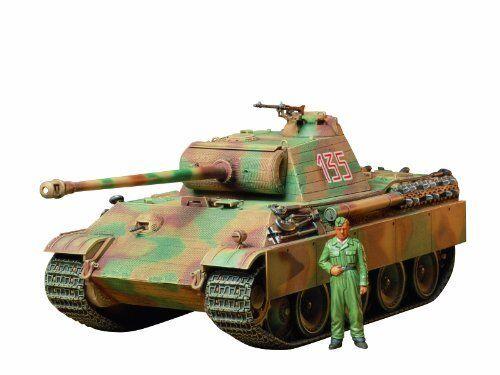 Tamiya 1/35 Tedesco Panther Tipo G Prima Versione Kit Modello Nuovo da Giappone