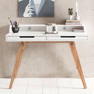 Detalles de Escritorio 110x85x60 cm madera MDF blanco mesa de trabajo mesa  de oficina diseño