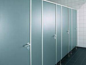WC-Trennwand WC-Kabine WC-Trennwandanlage Sanitärtrennwand für WC´s ...