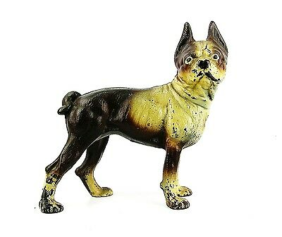 HEAVY ANTIQUE STYLE CAST IRON TERRIER DOG BANK /& DOOR STOP HUBLEY ?