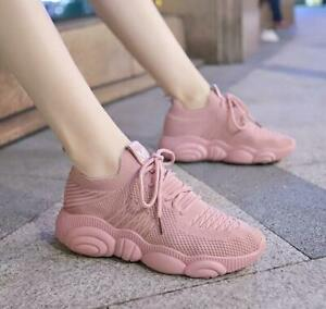 New-Women-Breathable-knitting-Running-Jogging-Shoes-Sport-Shoes-Walking-Sneakers