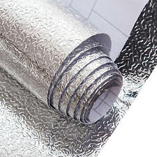 1Pc Foil Stickers Wall Paper Silver Kitchen Waterproof Anti-oil Self-adhesive