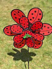double cloth ladybug wind spinners pinwheel windmill