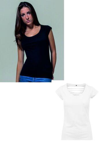 C Build Your Brand Ladies Back Cut Tee Damen Kurzarm T-Shirt  BY035