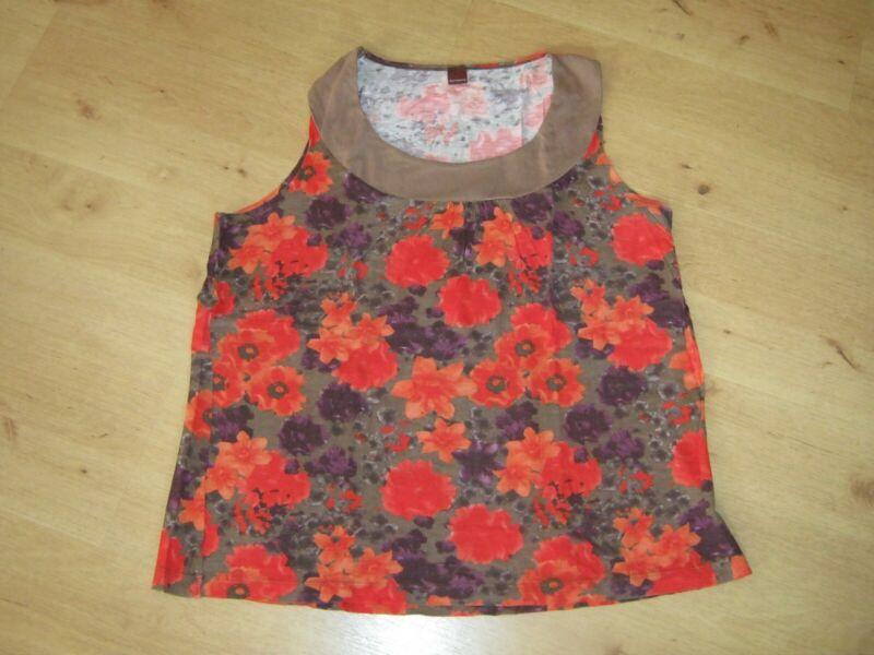 1 Damen Blanche Porte Tshirt Top Gr.44 Rot Orange Ohne Arm