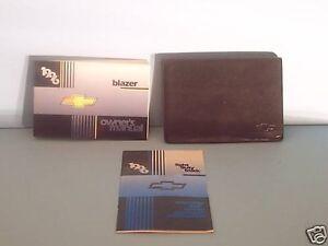 96 1996 chevrolet blazer owners manual ebay rh ebay com 1994 Chevy Blazer 1996 chevy blazer service manual pdf