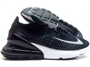 04c3b6ca2cd9 NIKE AIR MAX 270 FLYKNIT BLACK WHITE-WHITE SIZE WOMEN S 7  AH6803 ...