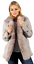 Belt Coat With Trench Women's Grey Shearling Toscana fXwqKYRI