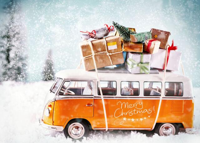 Christmas Cards & Packs - VW Campervan Motorhome Adventure Fast FREEPOST