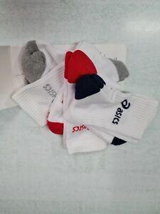 Asics-Calze-3PPK-Crew-Socks-3-paia-Unisex-Art-321744-0187-Bianco-Color-Mix