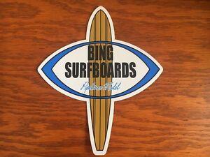 Bien Planche De Surf Autocollant Bing Surfboards Vintage Style Surf Decal Surf-afficher Le Titre D'origine Gagner Une Grande Admiration