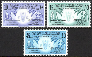 Libye 183-185, MNH Date Paumes, Fao Emblème, 1957