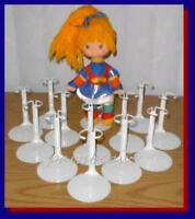12 White Kaiser Doll Stands For 10 Rainbow Brite