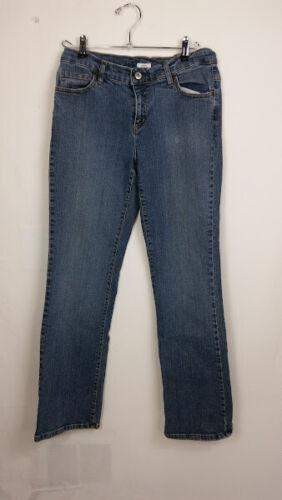 Liz & Co Women's Jeans Size 10 Denim Button and Zi