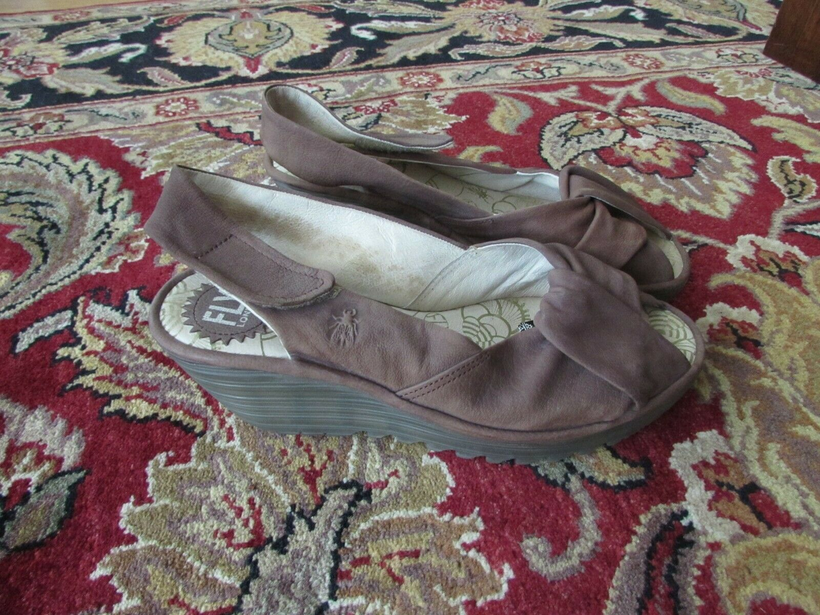 Fly London Women Platform Wedges Open Toe Sandals shoes Size 9