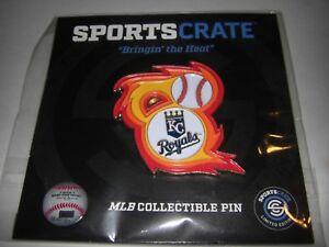 Kansas-City-Royals-SportsCrate-Bringin-039-the-Heat-Souvenir-Pin-NEW