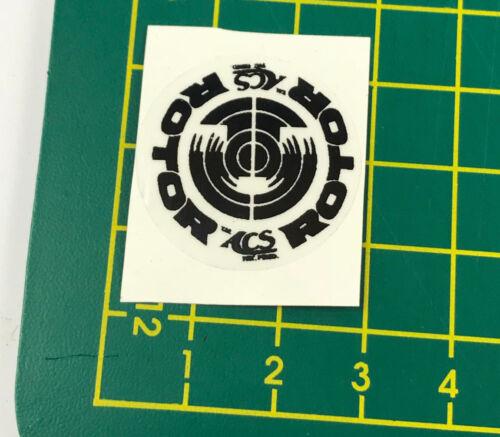old school bmx decals stickers acs rotor 55 slant stem black on clear