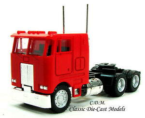Peterbilt-COE-3-Axle-Tractor-Red-w-Tilting-Cab-HO-1-87-Promotex-25246