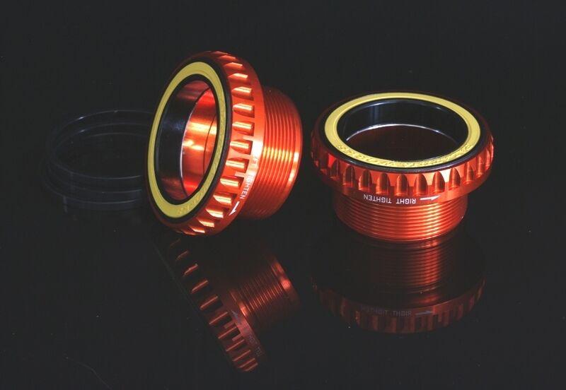 Yuniper 74g bb386 MTB cerámica rodamiento BSA adecuado a otros clavicula naranja