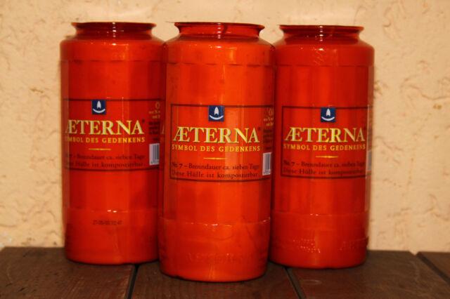 Grabkerzen rot T7 Aeterna Premium Öko Grabkerze Grablicht Grablichter Nr.7