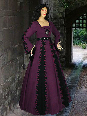 Italian Medieval Gown Renaissance Maiden Dress Handmade from Natural Cotton
