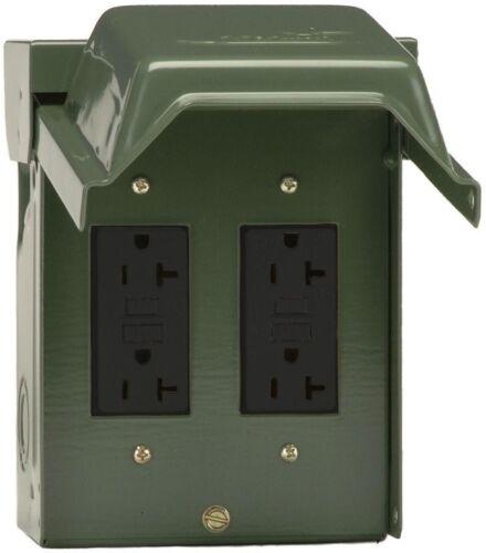 2-20 AMP Jardin Extérieur Prise électrique Duplex GFCI récipients verrouillable