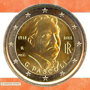 Sondermünzen Italien: 2 Euro Münze 2012 Pascoli Sondermünze zwei€ Gedenkmünze