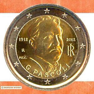 Sondermünzen Italien 2 Euro Münze 2012 Pascoli Sondermünze Zwei