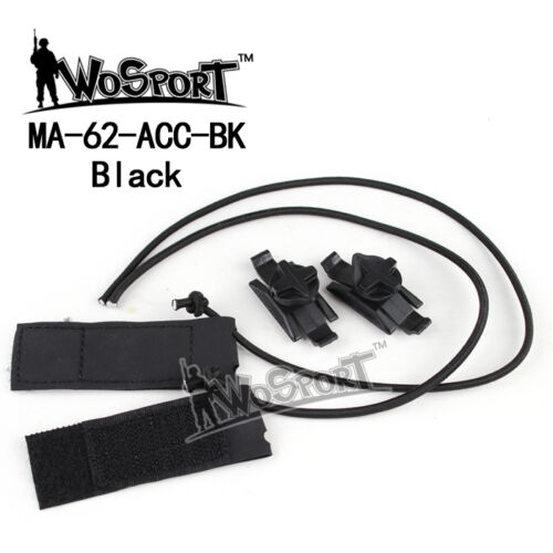 Airsoft Tactical Helmet Accessories Adaptation Line Swivel Clips for Goggle Part