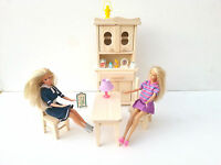 Wooden Toy Furniture For Fashion Dolls, Natural Pinewood Kitchen Furniture