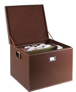 Details About G U S Decorative Office File And Portable Storage Box For Hanging Folders